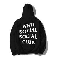 Anti Social Social Club/Logo フーディー BLACK