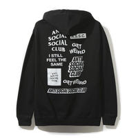 Anti Social Social Club/all Logo Hoodie  BLACK