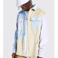 BOHOO /Cord color Block shirts