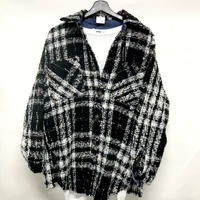 Mismatch NYC/Oversized Tweed shirts  Black
