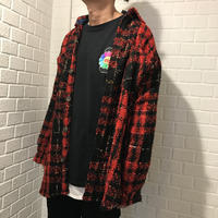 Mismatch NYC/Oversized Tweed shirts  RED