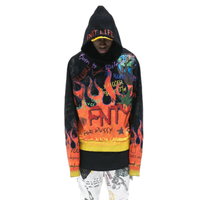 FNTY/Flying Blaze Hoodie  BLACK
