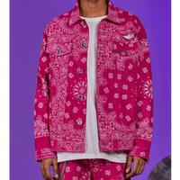 BOOHOO/BANDANA Denim Jacket PINK