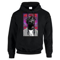 """R MAX Clothing/Art """"2PAC"""" Hoodie BLACK"""