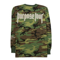 Purpose tour/Justin bieber official CAMO Long sleeve
