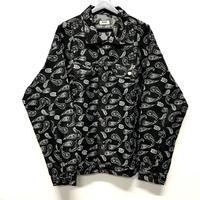 WOSS.official/Paisley denim jacket  Black
