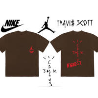 "Nike × Travis Scott /Cactus Jack JORDAN  Tshirts ""BROWN"""
