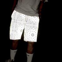 BOOHOO /BANDANA reflector shorts