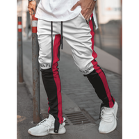 GUAPI/Biker Track Pants BLACK White