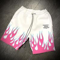 BOOHOO × Migos /Flame shorts White