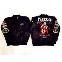 Nineteenth letter/Yeezus Campaign Bomber Jacket ブラック