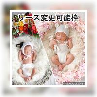 【5月予定日の方リース変更可能枠】白クマの桜いっぱいリース &しめ縄風リース