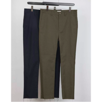MAINTENANT : HOPSACK STRETCH CUT OFF NEW SLIM PANTS
