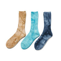 hobo : TIE DYE COTTON CREW SOCKS