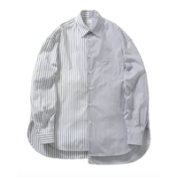 Name. : ASYMMETRIC STRIPED SHIRT