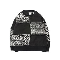 Name. : NORDIC PATCHWORK KNIT SWEATER