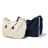 hobo : Cotton Canvas  Shoulder Bag Round