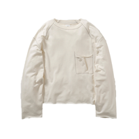 Name. : EMBROIDERED SEAM L/S CROPPED TEE