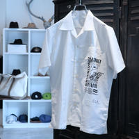 "S.i.m : Linen Open Collar Shirt ""PEN PUBLIC×S.i.m"""