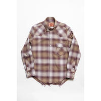 The Letters : WESTERN SWING TOP SHIRT - OMBRE CHECK SOFT HEAVY FLANNEL -