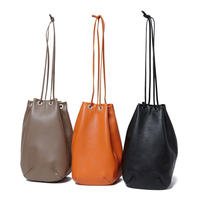 hobo : Shrink Leather Drawstring Bag