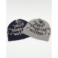 MAINTENANT : THANK YOU BAG GRAPHIC KNIT BEANIE