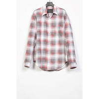 The Letters : STANDARD SHIRT - OMBRE CHECK FLANNEL -