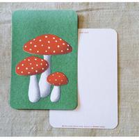 オリジナルポストカード・きのこ・2枚