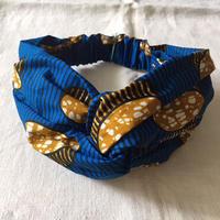 アフリカンプリントヘアバンド33・お菓子(青)