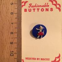 ボタン ネコダンス(ブルー)