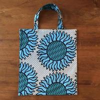 アフリカンプリントバッグS 21・ひまわりブルー