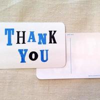 オリジナルポストカード・Thank You青・2枚