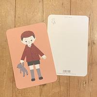 オリジナルポストカード・男の子B・2枚
