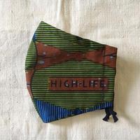 アフリカンプリントマスク89・VLISCO HIGH LIFE グリーンM/ L