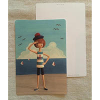 オリジナルポストカード・マリーンガール・2枚