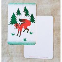 オリジナルポストカード・キツネ・2枚