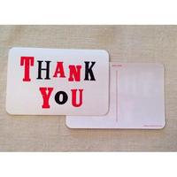オリジナルポストカード・Thank You赤・2枚