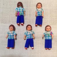 ARIブルードットシャツの子mini872