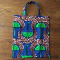 アフリカンプリントバッグS 27・傘グリーン