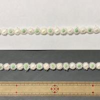 ヴィンテージ手芸テープ66・ペパーミントxホワイトお花