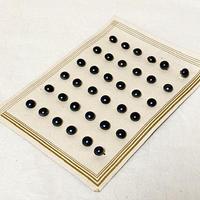 ボタン40・ガラス(ブラックパール調)
