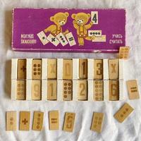 ソ連の木製算数カード