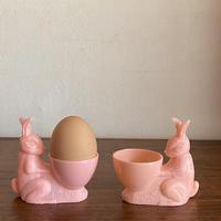 ウサギのエッグカップ(ピンク)
