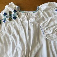 ウクライナ民族衣装17 (ブルー×茶系)