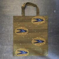 アフリカンプリントバッグS 31・ツバメ黄土