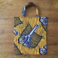 アフリカンプリントバッグS 26・はさみオレンジ