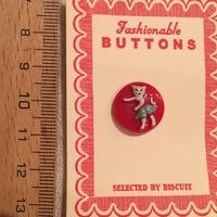 ボタン ネコダンス(レッド)