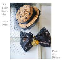 《Black》ドットチュールの麦わら帽子とDaisyチョーカー