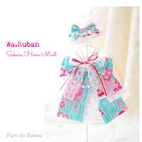 Wa.ruban Sakura  Hime チョーカーとヘアクリップ