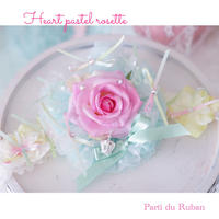 Heart pastel rosette Mint